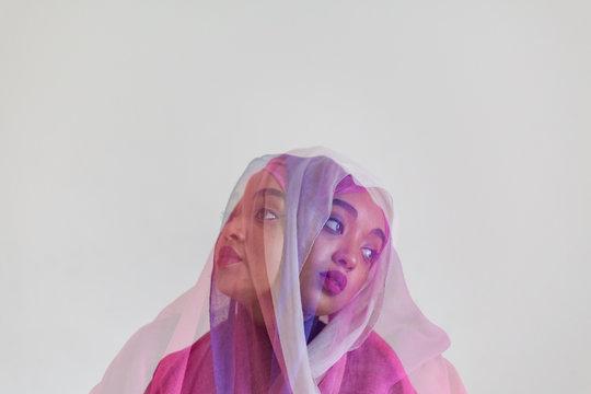 girl in pink hijab