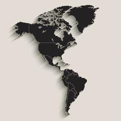 America map Black blackboard separate states individual vector