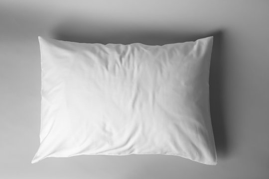Blank soft pillow on light background