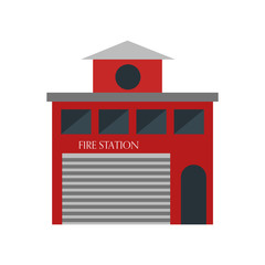 Fire station icon vector sign and symbol isolated on white background, Fire station logo concept