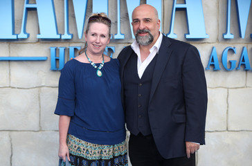 Omid Djalili and his wife Annabele attend the world premiere of Mamma Mia! Here We Go Again at the Apollo in Hammersmith, London