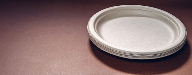 Biodegradable and compostable disposable molded fibre plates