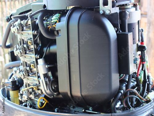 Four carburetors, intake manifold, fuel filter and cold