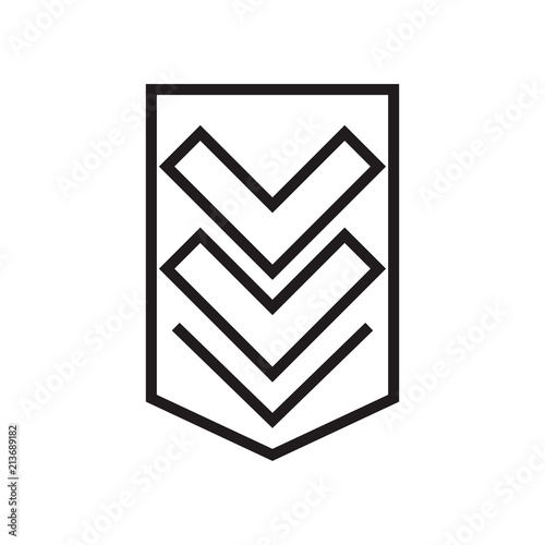 Chevron Icon Vector Sign And Symbol Isolated On White Background