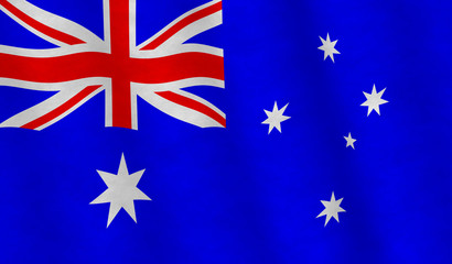 Illustration of an Australian Flag, flying version