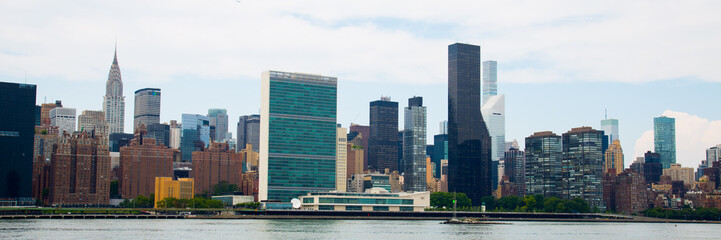 United Nations and NYC Panorama