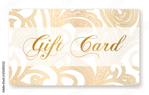 Gift Card Gift Card Discount Gift Coupon With Gold Pattern