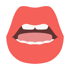 lips   vector illustration  flat style front side