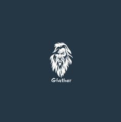 grandfather  logo vector illustration