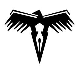 Logo eagle and pen