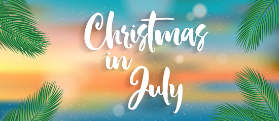 Christmas in july vector design.