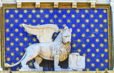 Saint Mark's Lion Clock Tower Venice Italy