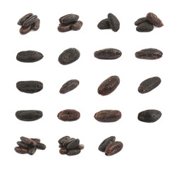 Set of cocoa beans compositions