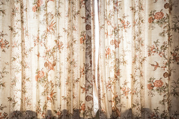 Window curtain with pattern decoration interior - Vintage Light Filter design