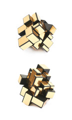 Variation of a puzzle cube isolated