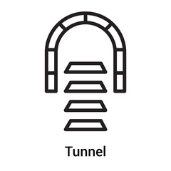 Tunnel signal icon vector sign and symbol isolated on white background, Tunnel signal logo concept