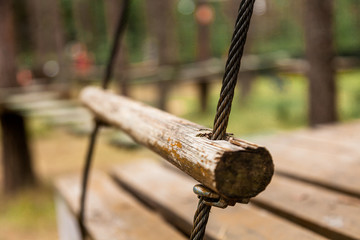 A rope ladder in the park