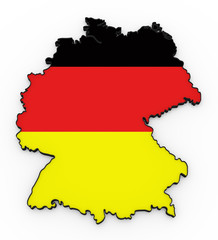 Germany high detailed 3D map