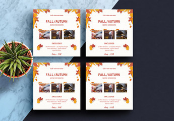 Autumn-Themed Photography Studio Flyer Layout