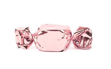 Wrapped candy isolated