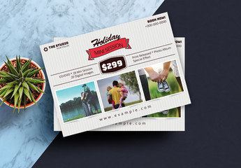 Holiday-Themed Photography Studio Flyer Layout