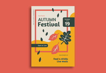 Autumn Festival Flyer Layout