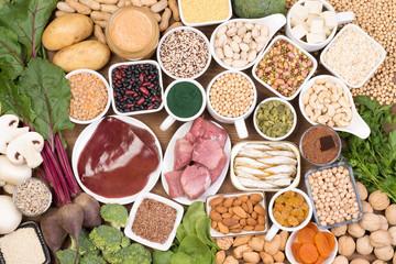 Fototapeta Food rich in iron obraz