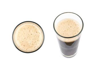 Obraz Glass of dark beer isolated - fototapety do salonu