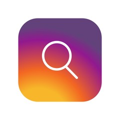 Search icon  on gradient color background vector icon. Simple element illustration. Search  on gradient color background symbol design. Can be used for web and mobile.