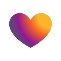 Heart icon gradient color  vector icon. Simple element illustration. Heart gradient color  symbol design. Can be used for web and mobile.