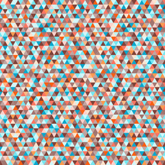 Tile pattern with triangles. Seamless geometric wallpaper of the surface. Unique background. Doodle for design. Bright colors. Print for polygraphy, posters, t-shirts and textiles. Luxury texture