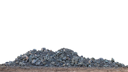 Isolate piles of granite on the ground. Wall mural