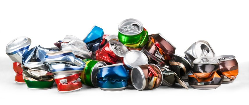 Crushed Beverage Cans