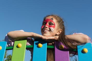 Fototapeta Dziewczynka na placu zabaw