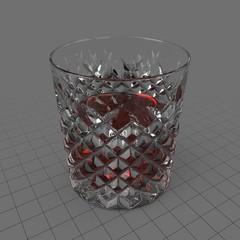 Cut glass tumbler 1