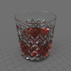 Cut glass tumbler 5