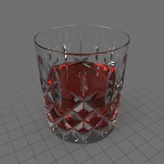 Cut glass tumbler 6