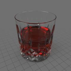 Cut glass tumbler 4