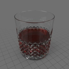 Cut glass tumbler 3