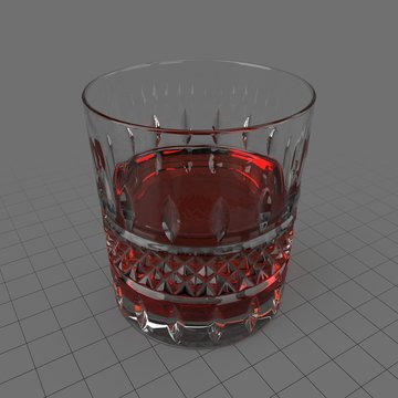 Cut glass tumbler 2
