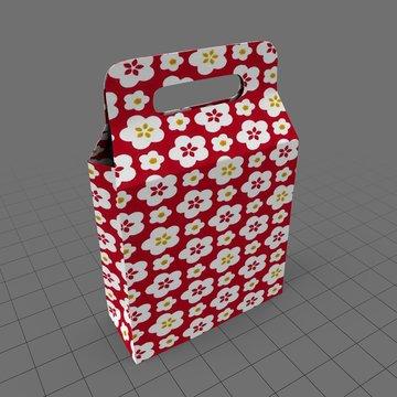 Paper handle shopping bag