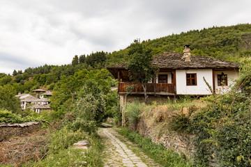 Traditional old Bulgarian houses in Leshten (architectural sanctuary), Bulgaria