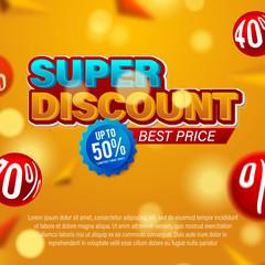 Sale banner template design, Big sale special offer