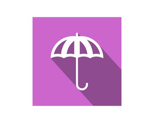 purple umbrella image vector icon logo symbol