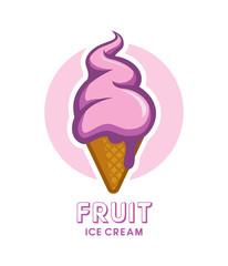 Fruit berry ice cream icon