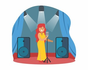 diva singer music musician musical artist concert performance cartoon character
