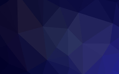 Dark Purple vector polygon abstract backdrop.
