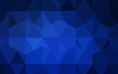 Dark BLUE vector triangle mosaic texture.