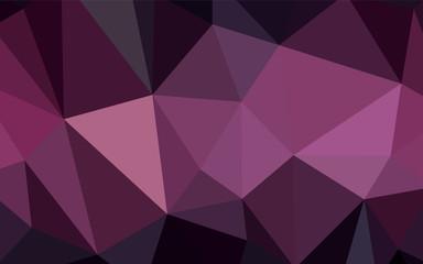 Dark Pink vector triangle mosaic texture.