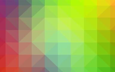 Dark Red, Yellow vector shining triangular layout.